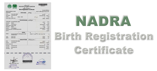 NADRA Birth Certificate Karachi