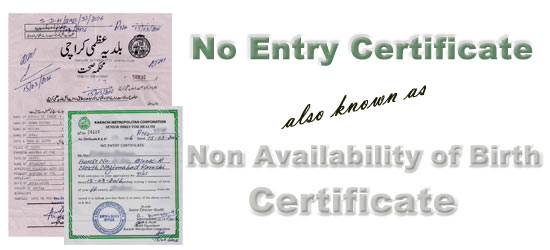 Availability of birth certificate karachi non availability of birth certificate karachi yadclub Images